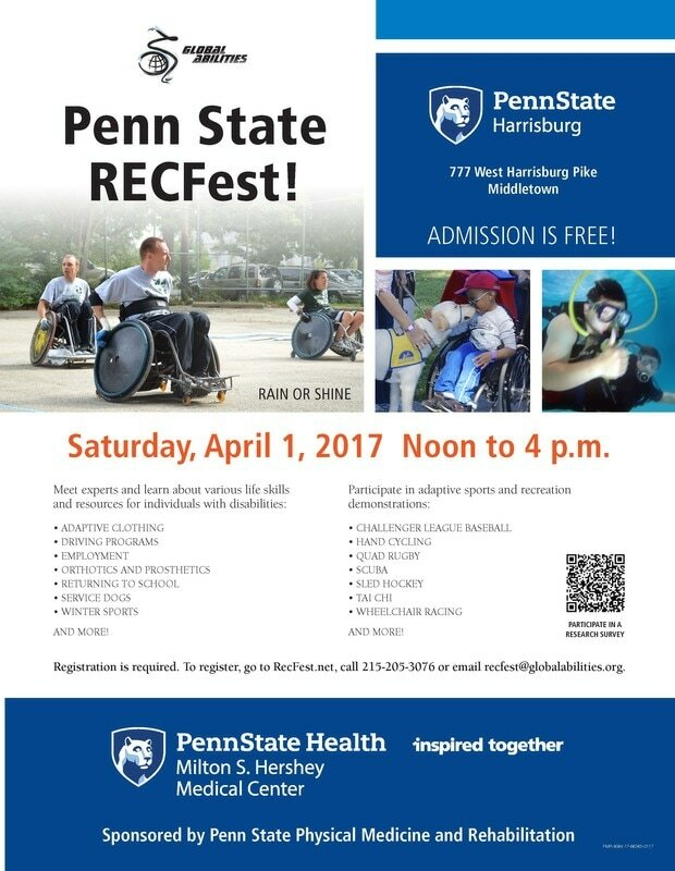 Penn State Rec Fest flier.  Click image to go to Penn State Rec Fest page
